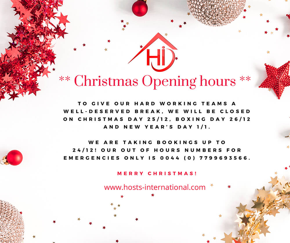 Opening Hours - Christmas