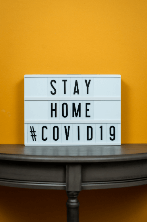 Stay home Covid 19 sign